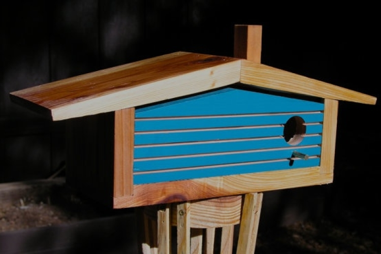 Mid Century Ranch Birdhouse