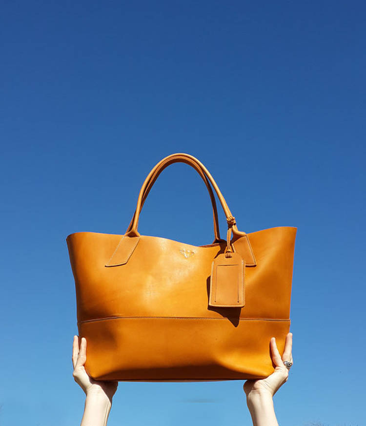 Large Leather Savannah Tote by Bubo