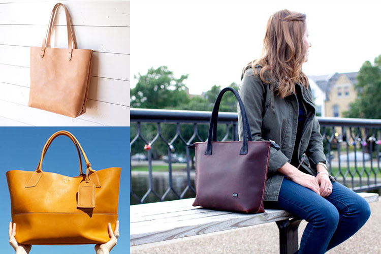 Simple Leather Totes