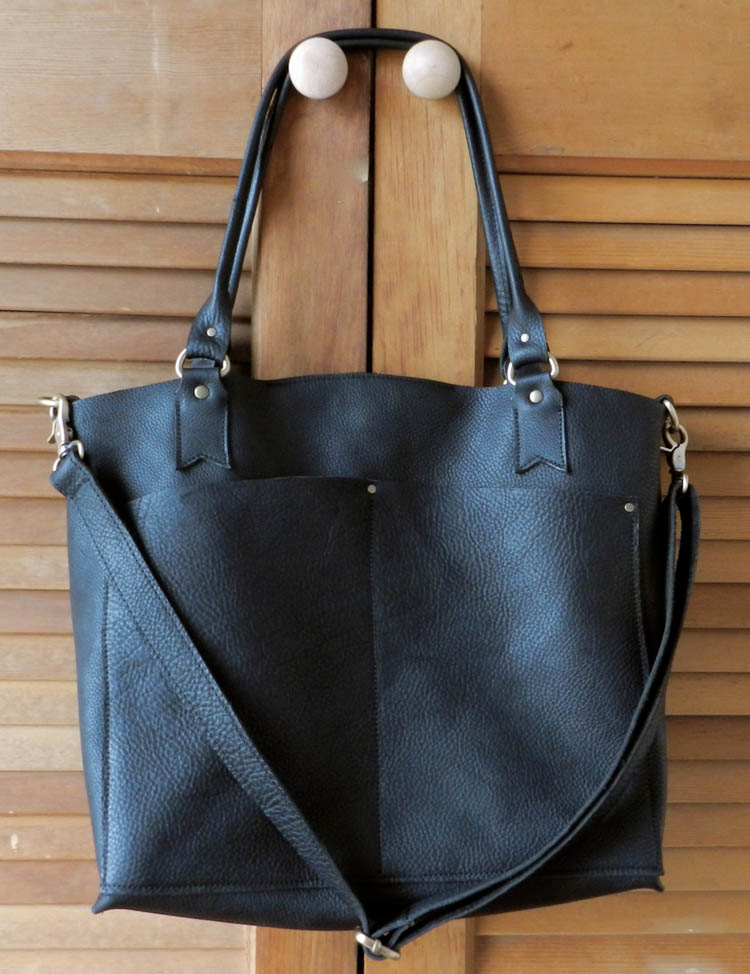Black Oil Tanned Leather Tote Bag by Lock and Key