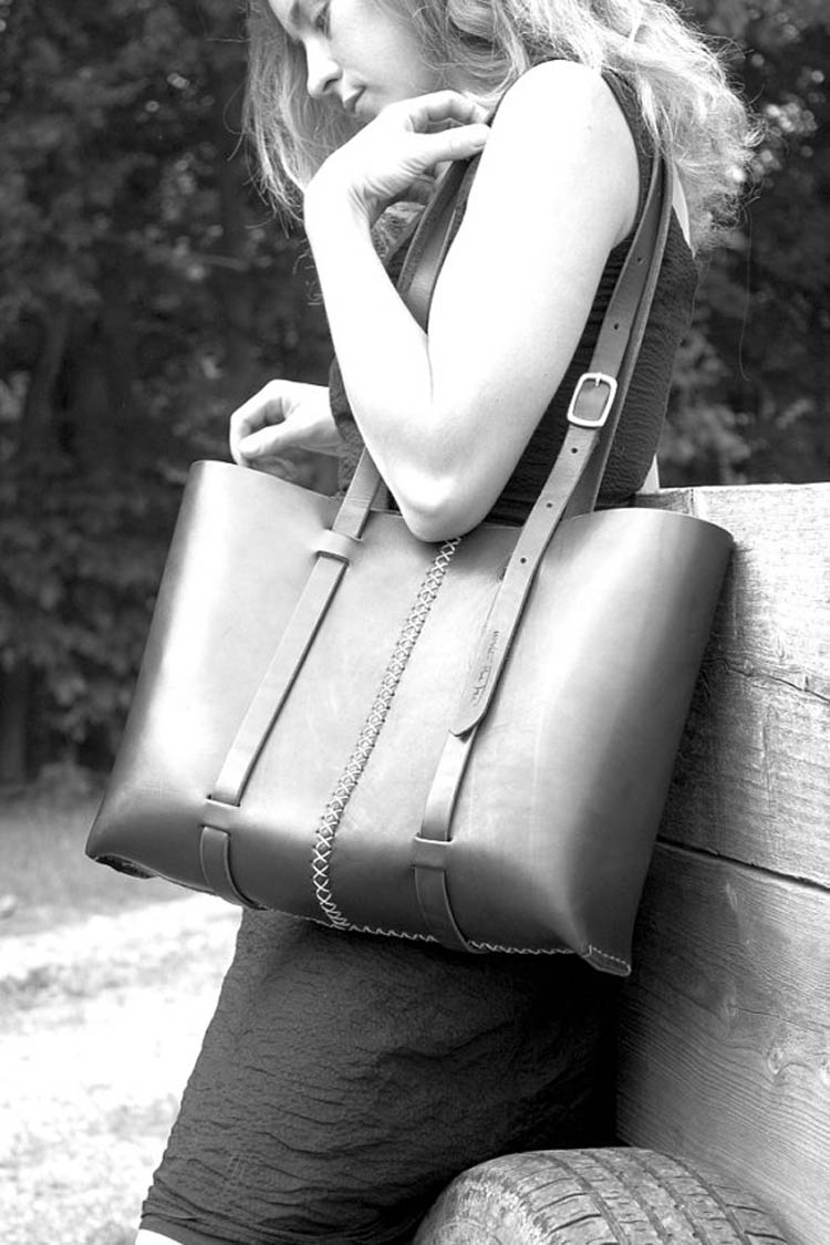 Large Leather Tote by Under The Tree [buy online]