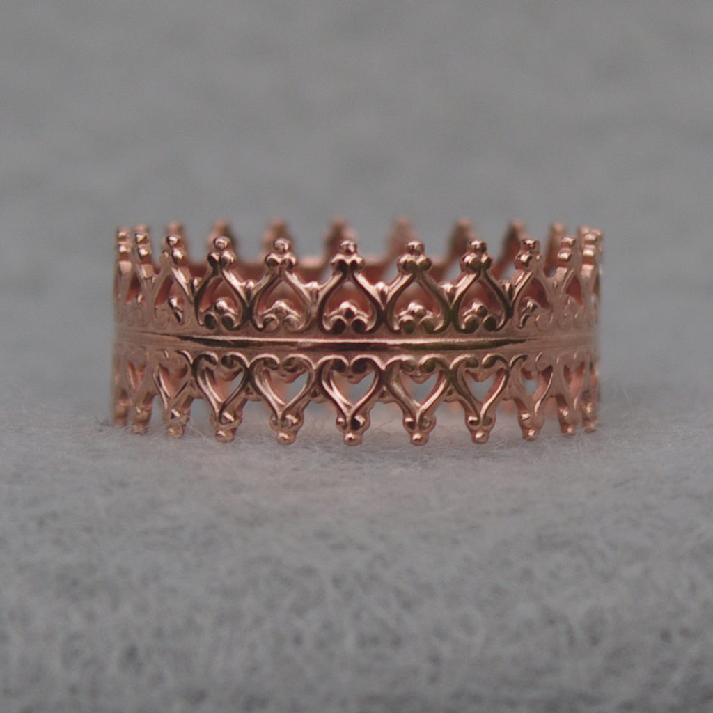 Copper Lace Ring by Celia OKelley