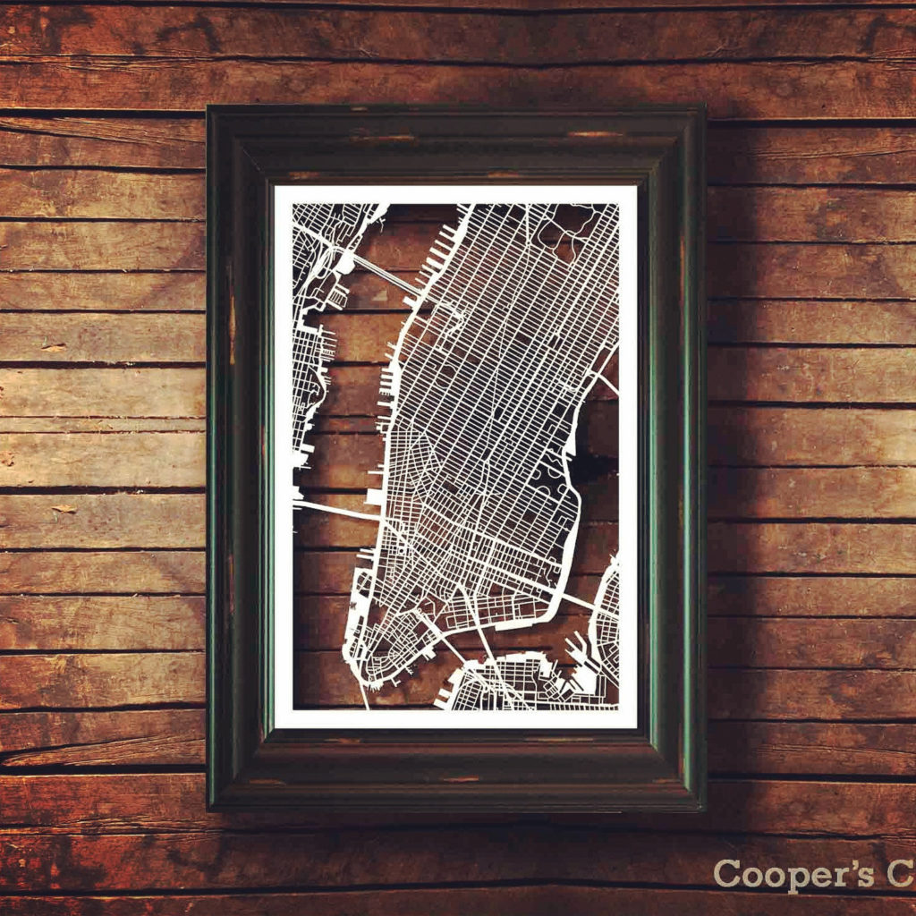Hand-cut NYC Art by Coopers Cuts