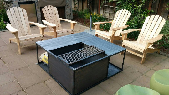 Firepit with Wood Storage by Fenom Fab [buy]