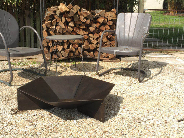 Modern Steel Origami Fire Pit by Handsome Industires [buy]