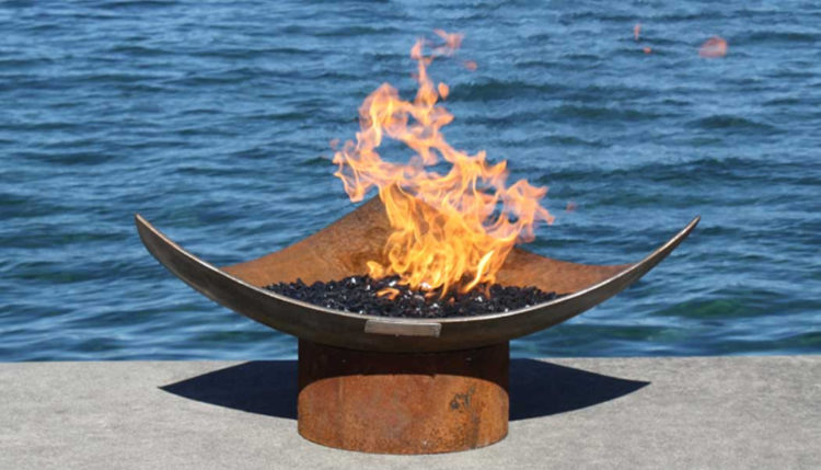 The Isosceles Modern Sculptural Firebowl by John Tunger [buy] https://www.etsy.com/shop/johntunger?ref=l2-shopheader-name