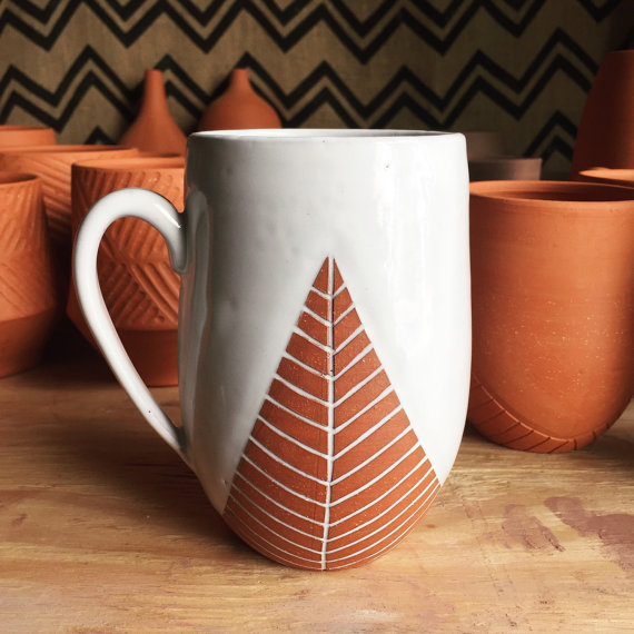Oversized Ceramic Mug by Pottery by Osa