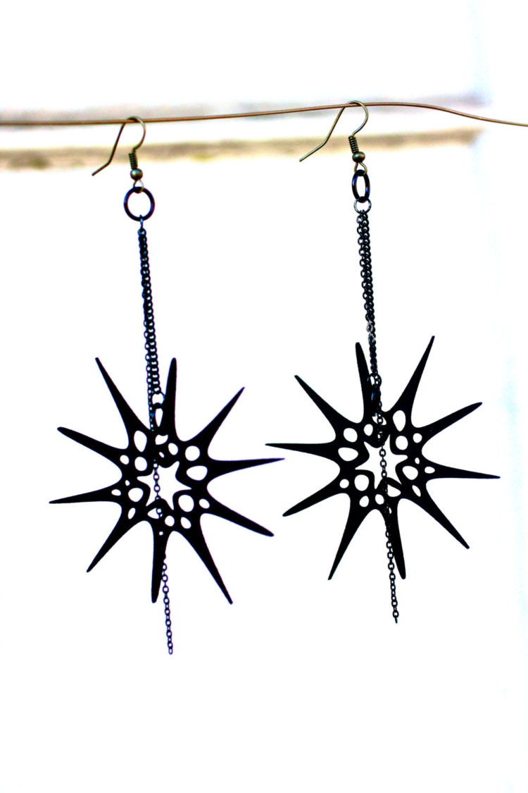Spiky Starfish Anemone Earrings by Lemantula Designs
