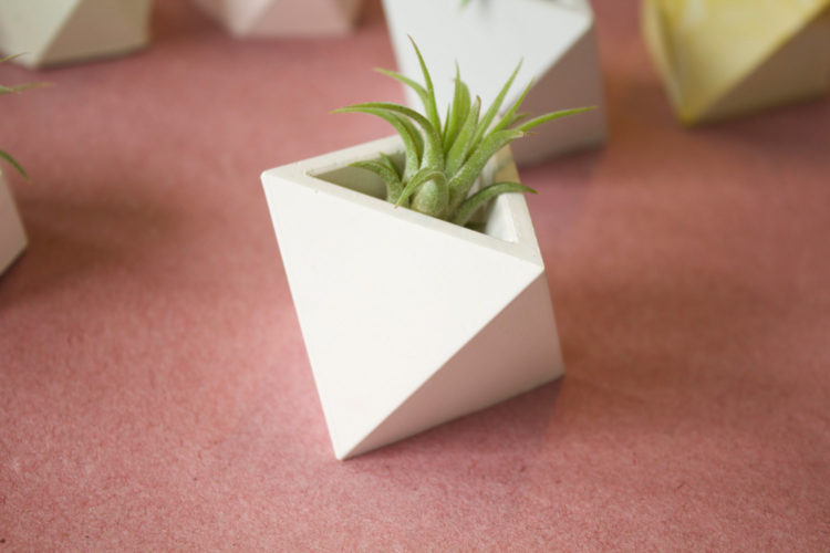 Triangle Geometric Planter by Cube7