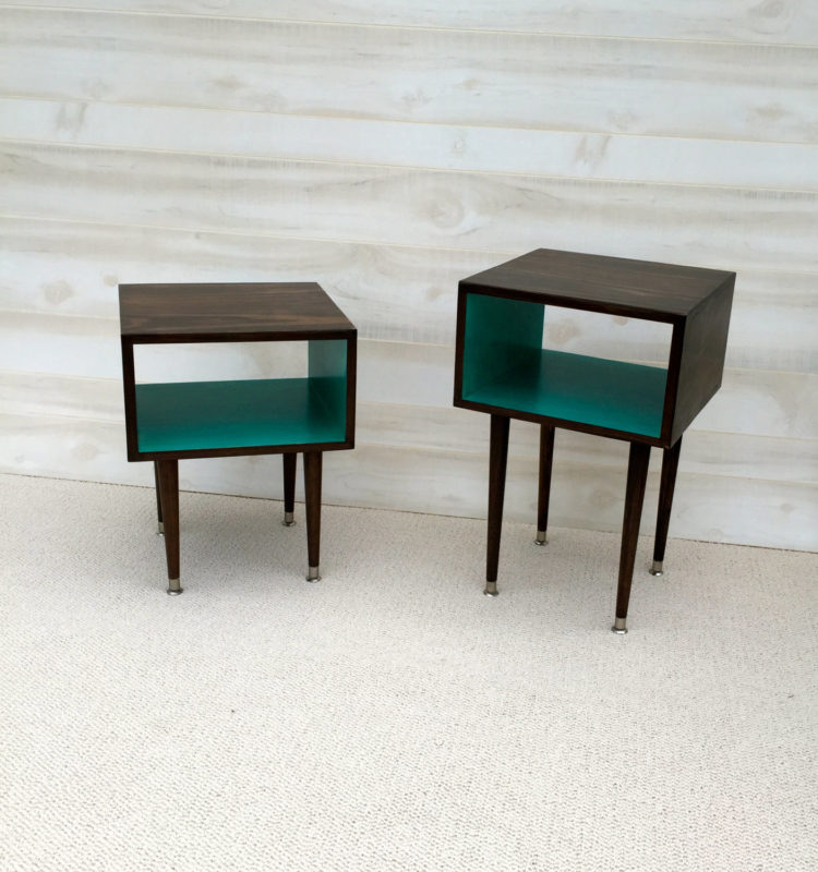 Mid Century Modern Side Tables by Tiny Lion Designs [buy]