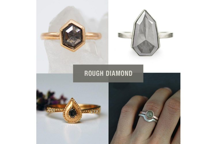 Grey Diamond rings from independent designers